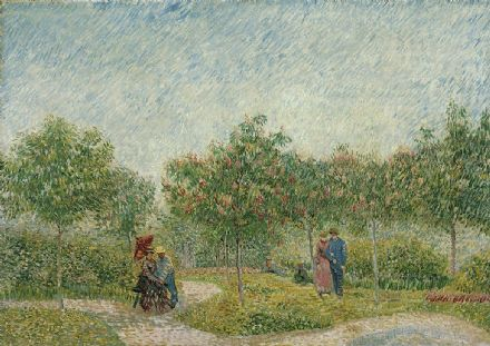Monet, Claude: Garden in Montmarte with Lovers. Fine Art Print/Poster. Sizes: A4/A3/A2/A1 (004144)